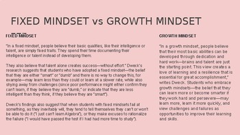 Building Confidence and Growth Mindset