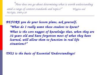 Building Curriculum with Essential Understandings