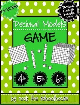 Building Decimal Models Game FREEBIE
