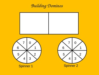Building Dominoes - 1 digit addition