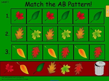 Building Fall Patterns on Smartboard Freebie!