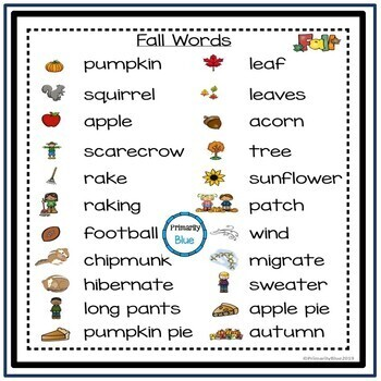Building Fall Words