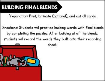 Building Final Blends