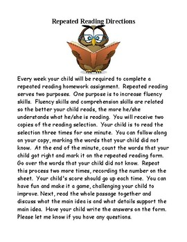 Building Fluency: Repeated Reading