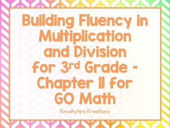Building Fluency in Multiplication and Division Part 1 for