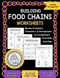 Building Food Chains Worksheet Activities