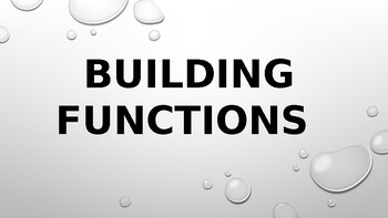 Building Functions (From Two Points, Table, Graph) Powerpoint