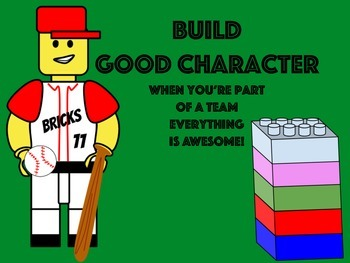 Building Good Character Posters: Building Block Theme