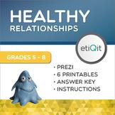 Healthy Relationships Mental Health Middle School Mini-Unit   Prezi & Printables