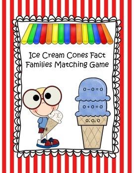 Building Ice Cream Cones Fact Families (0-10)