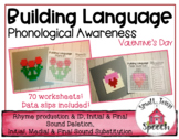 Phonological Awareness: Valentine's Day -Speech & Language Activity
