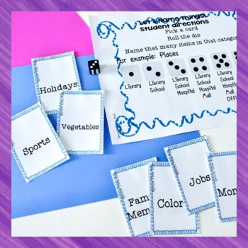 Building Language Skills Dice Games