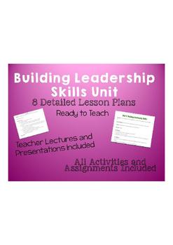 Building Leadership Skills Unit Lesson Plans