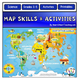 Map Skills: Go on a Map Scavenger Hunt with US Maps & World Maps