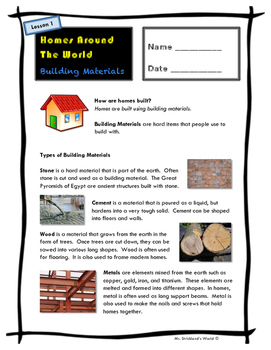 Homes Around the World // Building Materials