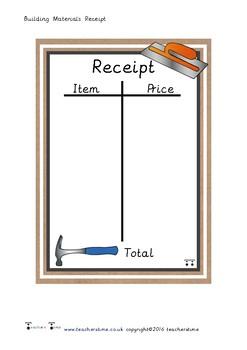 Building Materials Receipt