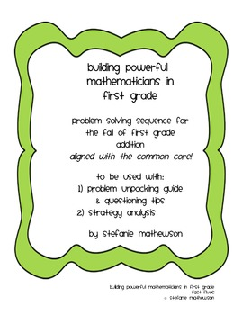 CGI Addition Word Problems for First Grade - Building Math Power!
