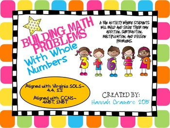 Building Math Problems with Whole Numbers