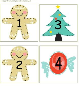 Building Math Skills with Pocket Charts Holiday Packet