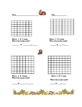 Building Multiplication Arrays
