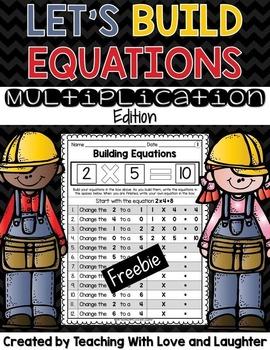 Building Multiplication Equations FREEBIE