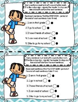 Building My ELA Skills: First Grade Unit 1 Week 1