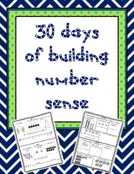 Building Number Sense - 30 Days of Activities
