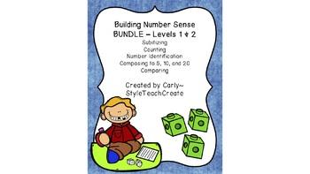 Building Number Sense Bundle - Levels 1 and 2