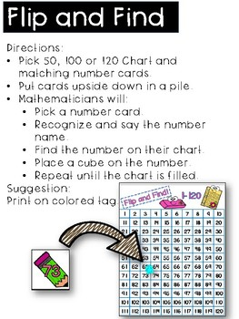 Building Number Sense to 120 Back to School Themed Activities