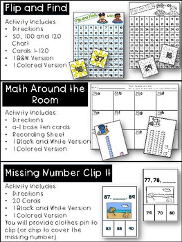 Building Number Sense to 120 Summer Themed Activities