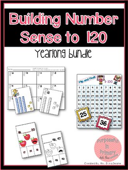 Building Number Sense to 120 YEARLONG Activities Bundle