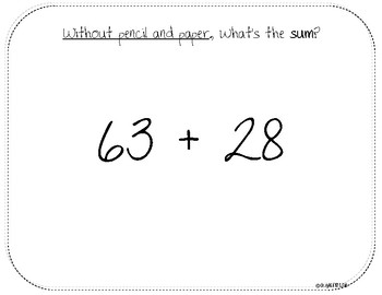 Building Number Sense with Adding and Subtracting Whole Numbers