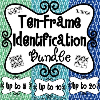 Ten-Frame Identification BUNDLE-Build Number Sense with Numbers to 5, 10, and 20