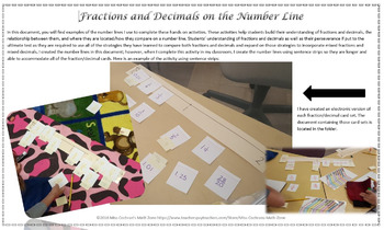 Building Number Sense with Fractions and Decimals using Number Lines