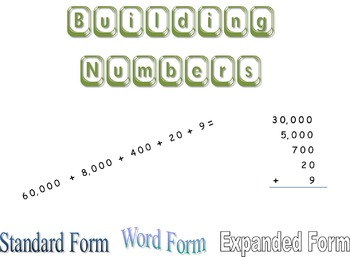 Building Numbers - Expanded Notation & Place Value Activity