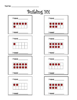 Addition / Number Combinations Supplemental Activities