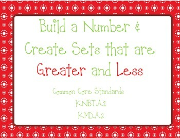 Building Numbers and Creating Sets that are Greater Than a