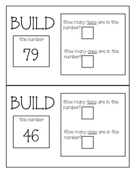 Building Numbers and Learning Place Value!