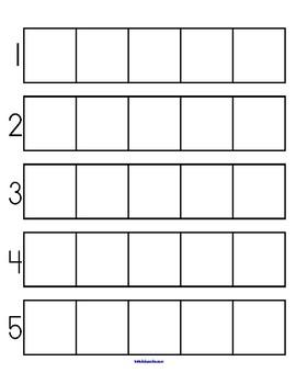 Number Grids to 5 - Counting, Sets, Patterns Categorizing Preschool Kindergarten