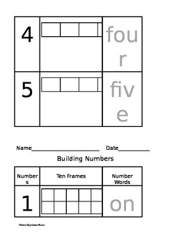 Building Numbers with Five Frames and Ten Frames