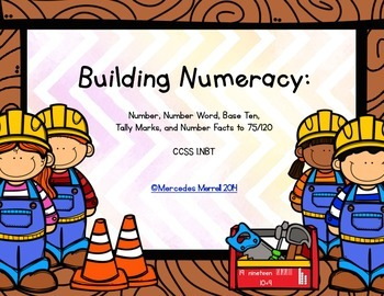 Building Numeracy:  Number, Number Word, Base Ten, Tally... to 120  CCSS1.NBT