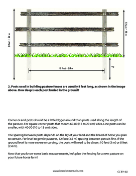 Building Pasture Fences: Area, Perimeter & Multi-step Word Problems