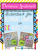 Building Phonemic Awareness with Beginning Sounds in CVC Word Families