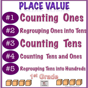 Building Place Value Concepts #1-5 BUNDLE Counting and regrouping