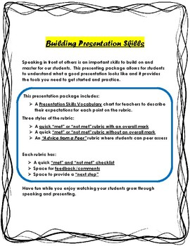 Building Presenting and Speaking Skills