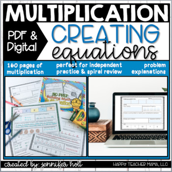 **FULL YEAR** Building Problems {Multiplication}