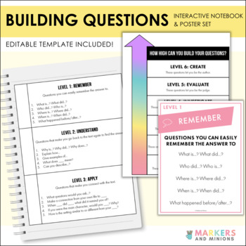 Building Questions Interactive Notebook and Posters! (Common Core, Bloom's)