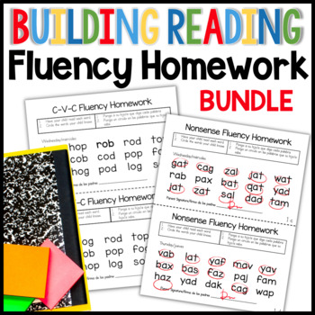 Building Reading Fluency Bundle for Kindergarten: great for creating that home to school connection or use in class for RTI