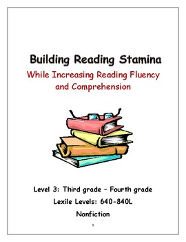 CLOSER AND CLOSER: Increase Stamina & Comprehension  with Close Reading Level 3a