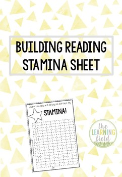 Building Reading Stamina Poster